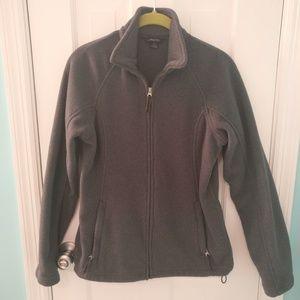 Lands' End Gray Fleece Jacket